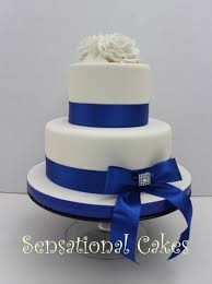 simple blue wedding cake. Brilliant Wedding 2 Tier Wedding Cake Royal Blue In Simple V