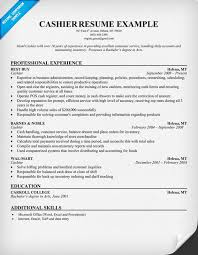 Best Solutions of Cashier Resume Sample No Experience With Sample