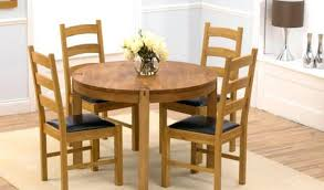 round dining table 4 leather chairs 37 american oak by size handphone