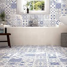 bathroom floor tile blue. Beautiful Patterned Bathroom Floor Tiles Tile Blue E