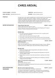 Resume Examples By Real People Logistics Import Export Specialist