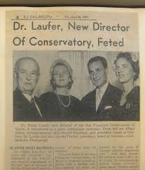 "Robin Laufer, Conservatory Director, 1957-1966 | ""Notes From the Past"""