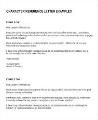 Recommendation Letter For Employee Template Character Reference Letter Template Meltfm Co