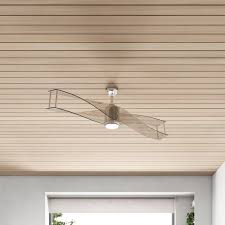 blade led flush mount ceiling fan with