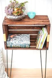 diy crate nightstand crate furniture ideas pictures using wooden crateilk crates crate nightstand furniture ideas and crates