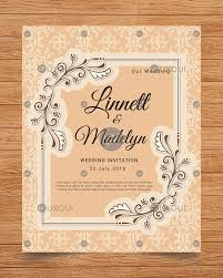 Wedding Vintage Invitation Card Design Template Vector Uxoui