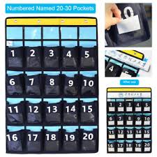 Classroom Pocket Charts Details About Diy Named Numbered Meeting Room Classroom Pocket Chart For Phone Holders Hooks
