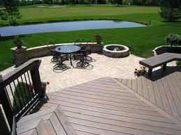 deck patio with fire pit. Patio, Deck And Fire Pit Combination In Dublin, OH Patio With E
