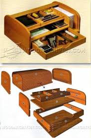 tambour desk organizer plans woodworking plans and projects woodarchivist com