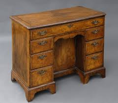 english antique walnut las kneehole desk