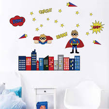 com decalmile superhero wall decals kids wall stickers boys bedroom baby nursery playing room decor home improvement