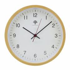 hippih silent wall clock wood 8 inches non ticking digital quiet sweep