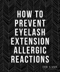 an allergic reaction to eyelash extensions