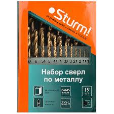 <b>Набор сверл</b> по металлу (19 шт.) <b>Sturm</b> 1055-03-SS3 - цена ...