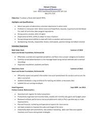 Data Entry Clerk Resume Examples Sample Monster Com Pictures Hd
