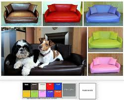 l zippy faux leather sofa dog bed 5