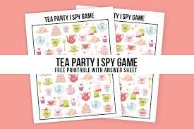 Tea Party Free Printables Tea Party Game Printable I Spy Live Laugh Rowe