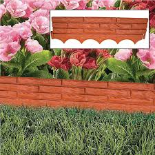 sentinel red brick wall garden edging plastic lawn flower bed border grass path liner