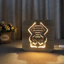 Amazoncom Night Light For Kids Dance Wooden 3d Lamp Creative
