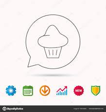 Bun Chart Brioche Icon Bread Bun Sign Stock Vector Tanyastock