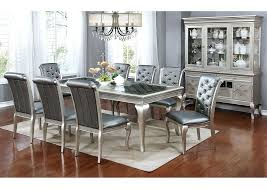 silver dining room tables silver dining table w glass of silver leaf round dining table