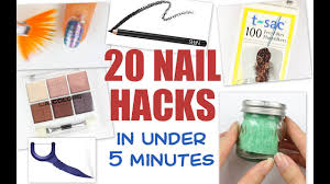 20 nail hacks in under 5 minutes