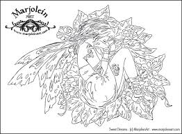 Free Fairy Fantasy Coloring Pages By Phee Mcfaddell And More Fairy