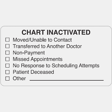 Arden Label Map15 Chart Inactivated Labels Pre Printed