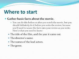 How To Write A Movie Review Magazine Journalism Writing A Movie Review Ppt Video
