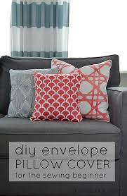 how to sew a diy envelope pillow cover