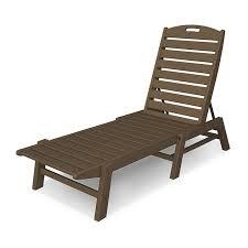 nautical armless chaise lounge