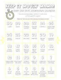 Printable: Baby Countdown Calendar Printable