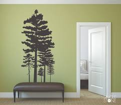 pine tree grouping wall decals on wall art tree images with pine tree grouping wall decals wall decals wall stickers