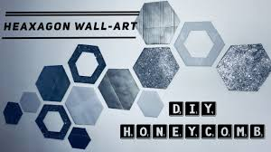 how to create hexagon wall art honeycomb wall decor easy recycling home decor idea cardboard craft