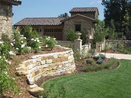 backyard retaining wall designs. Contemporary Retaining Silioam Stone Retaining Walls And Landscape Wall Accent  Landscapes Colorado Springs CO Throughout Backyard Designs
