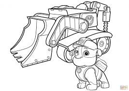 Coloring Pages Rubble Pawol Coloring Page Pages And His Machine