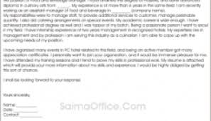 cover letter for food and beverage manager cook cover letter