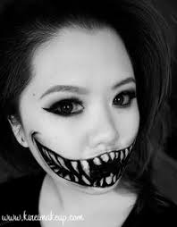 create this easy monster teeth makeup using just face paint