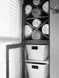 modern towel rack. Stylish Custom Carpenter Made Modern Towel Storage With Shelves Also Single Glass Door As Decorate Bathroom Cabinetry Ideas Rack