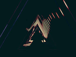 design, lights, neon, triangles ...