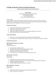 Resume Templates For College Graduates Sample Resume For Recent College Graduate With No Experience Resume 9