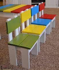 Build an easy table and chair set for the little kids. The set costs about