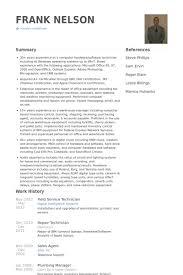 Field Service Technician Resume Samples Visualcv Resume Samples