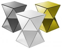 smoked mirrored furniture. Smoked Mirrored Furniture. Triangles Pedestal Tables In Smoked, Furniture I