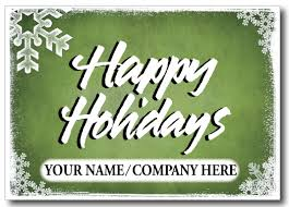 Custom Logo Holiday Postcard [PC601] : Harrison Greetings ...