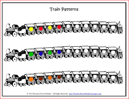 Patterns For Preschool Delectable FREE Printable Pattern Trains Preschool Powol Packets