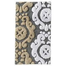 bathroom target bath rugs mats: thresholda scroll bath rug gray x target