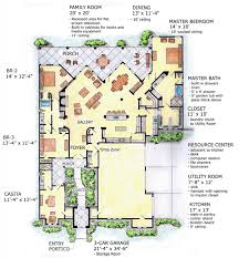 House Plan at FamilyHomePlans comMediterranean Southwest House Plan Level One