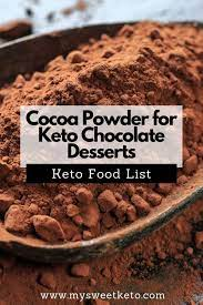 Simply the best and easiest chocolate walnut keto fudge you will ever find. Cocoa Powder For Keto Desserts My Sweet Keto