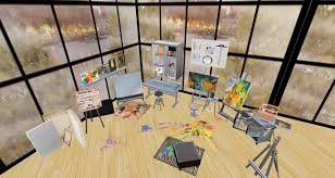 Second Life Marketplace 50 Art Studio collection in Stainless